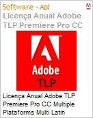 Licen�a anual Adobe TLP Premiere Pro CC Multiple Plataforms Multi Latin American Languages Subscription 1 Usu�rio Level 1 1 - 49 1 ano - Renova��o (Figura somente ilustrativa, n�o representa o produto real)