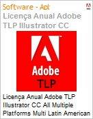 Licen�a anual Adobe TLP Illustrator CC All Multiple Platforms Multi Latin American Languages Subscription 1 Usu�rio Level 1 1 - 49 1 ano  (Figura somente ilustrativa, n�o representa o produto real)