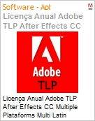 Licen�a anual Adobe TLP After Effects CC Multiple Plataforms Multi Latin American Languages Subscription 1 Usu�rio Level 1 1 - 49 1 ano - Renova��o (Figura somente ilustrativa, n�o representa o produto real)