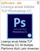Licen�a anual Adobe TLP Photoshop CC All Multiple Platforms Multi Latin American Languages Subscription 1 Usu�rio Level 1 1 - 49 1 ano  (Figura somente ilustrativa, n�o representa o produto real)