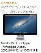 Monitor 27 LCD Apple Thunderbolt Display 2560x1440 12ms 1000:1 IPS USB FireWire 800 FaceTime HD  (Figura somente ilustrativa, n�o representa o produto real)