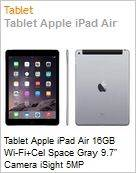 Tablet Apple iPad Air 16GB Wi-Fi+Cel Space Gray 9.7 Camera iSight 5MP  (Figura somente ilustrativa, não representa o produto real)