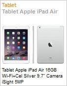 Tablet Apple iPad Air 16GB Wi-Fi+Cel Silver 9.7 Camera iSight 5MP  (Figura somente ilustrativa, n�o representa o produto real)