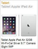 Tablet Apple iPad Air 32GB Wi-Fi+Cel Silver 9.7 Camera iSight 5MP  (Figura somente ilustrativa, n�o representa o produto real)