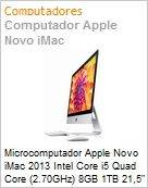 Microcomputador Apple Novo iMac 2013 Intel Core i5 Quad Core (2.70GHz) 8GB 1TB 21,5 LED IPS OS X Mavericks Wi-Fi 11ac Bluetooth 4.0 FaceTime HD Intel Iris Pro USB 3.0 (Figura somente ilustrativa, não representa o produto real)