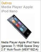 Media Player Apple iPod Nano (geracao 7) 16GB Space Gray 2.5 Multi-Touch (ME971BZ/A)  (Figura somente ilustrativa, n�o representa o produto real)