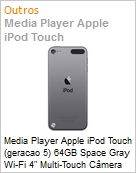 Media Player Apple iPod Touch (geracao 5) 64GB Space Gray Wi-Fi 4 Multi-Touch C�mera iSi... (ME979BZ/A)  (Figura somente ilustrativa, n�o representa o produto real)