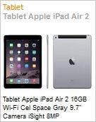 Tablet Apple iPad Air 2 16GB Wi-Fi Cel Space Gray 9.7 Camera iSight 8MP  (Figura somente ilustrativa, não representa o produto real)