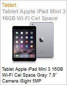 Tablet Apple iPad Mini 3 16GB Wi-Fi Cel Space Gray 7.9 Camera iSight 5MP  (Figura somente ilustrativa, n�o representa o produto real)