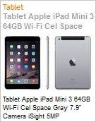 Tablet Apple iPad Mini 3 64GB Wi-Fi Cel Space Gray 7.9 Camera iSight 5MP  (Figura somente ilustrativa, n�o representa o produto real)