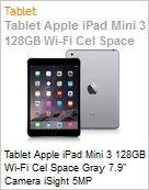 Tablet Apple iPad Mini 3 128GB Wi-Fi Cel Space Gray 7.9 Camera iSight 5MP  (Figura somente ilustrativa, n�o representa o produto real)