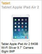 Tablet Apple iPad Air 2 64GB Wi-Fi Silver 9.7 Camera iSight 8MP  (Figura somente ilustrativa, n�o representa o produto real)