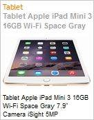 Tablet Apple iPad Mini 3 16GB Wi-Fi Space Gray 7.9 Camera iSight 5MP  (Figura somente ilustrativa, n�o representa o produto real)