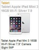 Tablet Apple iPad Mini 3 16GB Wi-Fi Silver 7.9 Camera iSight 5MP  (Figura somente ilustrativa, n�o representa o produto real)