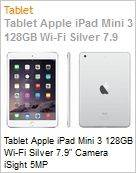 Tablet Apple iPad Mini 3 128GB Wi-Fi Silver 7.9 Camera iSight 5MP  (Figura somente ilustrativa, n�o representa o produto real)