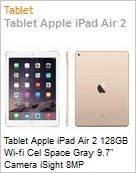 Tablet Apple iPad Air 2 128GB Wi-fi Cel Space Gray 9.7 Camera iSight 8MP  (Figura somente ilustrativa, não representa o produto real)