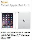 Tablet Apple iPad Air 2 128GB Wi-fi Cel Silver 9.7 Camera iSight 8MP  (Figura somente ilustrativa, n�o representa o produto real)