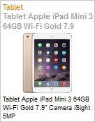 Tablet Apple iPad Mini 3 64GB Wi-Fi Gold 7.9 Camera iSight 5MP  (Figura somente ilustrativa, n�o representa o produto real)