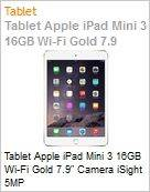 Tablet Apple iPad Mini 3 16GB Wi-Fi Gold 7.9 Camera iSight 5MP  (Figura somente ilustrativa, n�o representa o produto real)