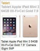 Tablet Apple iPad Mini 3 64GB Wi-Fi+Cel Gold 7.9 Camera iSight 5MP  (Figura somente ilustrativa, n�o representa o produto real)