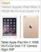 Tablet Apple iPad Mini 3 16GB Wi-Fi+Cel Gold 7.9 Camera iSight 5MP  (Figura somente ilustrativa, n�o representa o produto real)