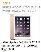 Tablet Apple iPad Mini 3 128GB Wi-Fi+Cel Gold 7.9 Camera iSight 5MP  (Figura somente ilustrativa, n�o representa o produto real)
