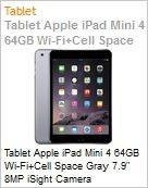 Tablet Apple iPad Mini 4 64GB Wi-Fi+Cell Space Gray 7.9 8MP iSight Camera  (Figura somente ilustrativa, n�o representa o produto real)