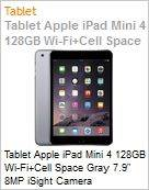 Tablet Apple iPad Mini 4 128GB Wi-Fi+Cell Space Gray 7.9 8MP iSight Camera  (Figura somente ilustrativa, n�o representa o produto real)