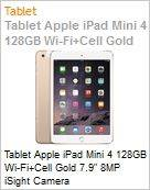 Tablet Apple iPad Mini 4 128GB Wi-Fi+Cell Gold 7.9 8MP iSight Camera  (Figura somente ilustrativa, n�o representa o produto real)