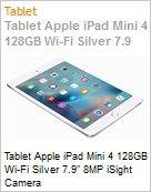 Tablet Apple iPad Mini 4 128GB Wi-Fi Silver 7.9 8MP iSight Camera  (Figura somente ilustrativa, n�o representa o produto real)