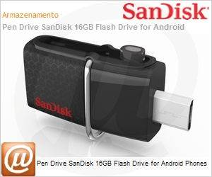 SDDD2-016G-G46 - Pen Drive SanDisk 16GB Flash Drive for Android Phones