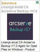 Licença anual CA Arcserve Backup r17.0 Agent for Open Files on Windows - Product plus 1 Year Enterprise Maintenance  (Figura somente ilustrativa, não representa o produto real)