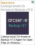 Licença anual CA Arcserve Backup r17.0 Agent for Open Files on Windows - Competitive UPGRADE - Product plus 1 Year Enterprise Maintenance  (Figura somente ilustrativa, não representa o produto real)