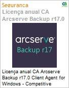 Licença anual CA Arcserve Backup r17.0 Client Agent for Windows - Competitive UPGRADE - Product plus 3 Years Enterprise Maintenance  (Figura somente ilustrativa, não representa o produto real)