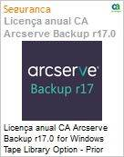 Licença anual CA Arcserve Backup r17.0 for Windows Tape Library Option - Prior Version UPGRADE - Product plus 1 Year Enterprise Maintenance  (Figura somente ilustrativa, não representa o produto real)