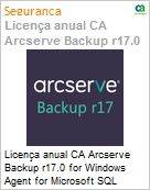 Licença anual CA Arcserve Backup r17.0 for Windows Agent for Microsoft SQL Server - Prior Version UPGRADE - Product plus 1 Year Enterprise Maintenance (Figura somente ilustrativa, não representa o produto real)