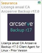 Licença anual CA Arcserve Backup r17.0 Client Agent for Linux - Prior Version UPGRADE - Product plus 3 Years Enterprise Maintenance  (Figura somente ilustrativa, não representa o produto real)
