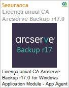 Licença anual CA Arcserve Backup r17.0 for Windows Application Module - App Agent UPGRADE (in Maint) - Product plus 1 Year Enterprise Maintenance (Figura somente ilustrativa, não representa o produto real)