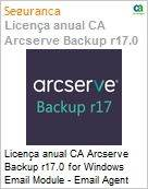 Licença anual CA Arcserve Backup r17.0 for Windows Email Module - Email Agent UPGRADE (in Maint) - Product plus 1 Year Enterprise Maintenance  (Figura somente ilustrativa, não representa o produto real)