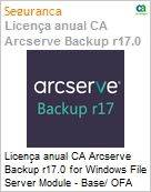 Licença anual CA Arcserve Backup r17.0 for Windows File Server Module - Base/ OFA UPGRADE (in Maint) - Product plus 3 Years Enterprise Maintenance (Figura somente ilustrativa, não representa o produto real)