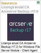 Licença anual CA Arcserve Backup r17.0 for Windows File Server Module - Client Agent UPGRADE (in Maint) - Product plus 1 Year Enterprise Maintenance (Figura somente ilustrativa, não representa o produto real)