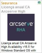 Licença anual CA Arcserve High Availability r16.5 for Windows Standard OS with Assured Recovery - Product plus 1 Year Enterprise Maintenance  (Figura somente ilustrativa, não representa o produto real)