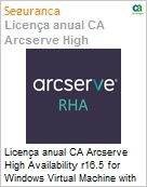 Licen�a anual CA Arcserve High Availability r16.5 for Windows Virtual Machine with Assured Recovery - UPGRADE from Replication - Product plus 1 Year Enterprise Maintenance (Figura somente ilustrativa, n�o representa o produto real)