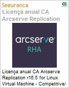Licen�a anual CA Arcserve Replication r16.5 for Linux Virtual Machine - Competitive/ Prior Version UPGRADE - Product plus 3 Years Enterprise Maintenance (Figura somente ilustrativa, n�o representa o produto real)