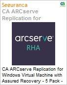 Licen�a anual CA Arcserve Replication for Windows Virtual Machine with Assured Recovery - 5 Pack - Maintenance Renewal - 1 Year Enterprise Maintenance Renewal [Renova��o] (Figura somente ilustrativa, n�o representa o produto real)