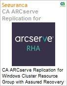 Licen�a anual CA Arcserve Replication for Windows Cluster Resource Group with Assured Recovery - Maintenance Renewal [Renova��o] - 1 Year Enterprise Maintenance Renewal [Renova��o] (Figura somente ilustrativa, n�o representa o produto real)