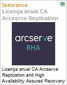 Licen�a anual CA Arcserve Replication and High Availability Assured Recovery Option for Windows - Maintenance Renewal - 3 Years Enterprise Maintenance Renewal [Renova��o] (Figura somente ilustrativa, n�o representa o produto real)
