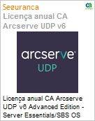 Licença anual CA Arcserve UDP v6 Advanced Edition - Server Essentials/SBS OS Instance One Year Enterprise Maintenance - New  (Figura somente ilustrativa, não representa o produto real)
