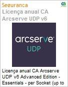 Licença anual CA Arcserve UDP v6 Advanced Edition - Essentials - per Socket (up to 6 per customer) Three Years Enterprise Maintenance - New  (Figura somente ilustrativa, não representa o produto real)