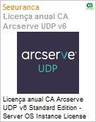 Licença anual CA Arcserve UDP v6 Standard Edition - Server OS Instance License Only UPGRADE-from-Earlier-Version-of-Same-Product License  (Figura somente ilustrativa, não representa o produto real)